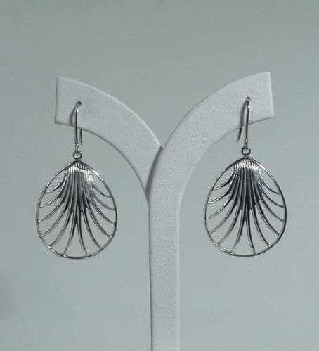 925 Sterling Silver  Hand Crafted Designer Drop Earrings - Exclusive